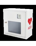 Akcesoria do defibrylatorów - baterie, elektrody, szafki, oznaczenia